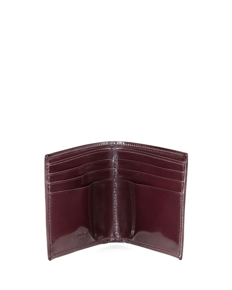 Spazzolato Leather Hip-Fold, Cordovan