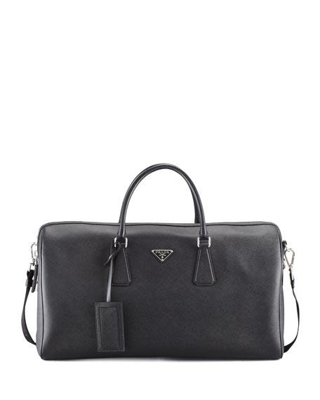 Saffiano Duffel Bag, Black
