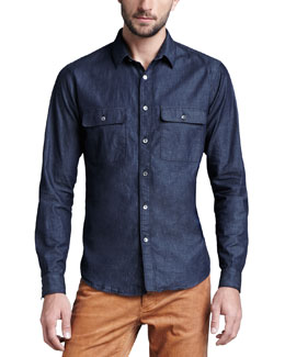 Theory Soft-Wash Chambray Shirt
