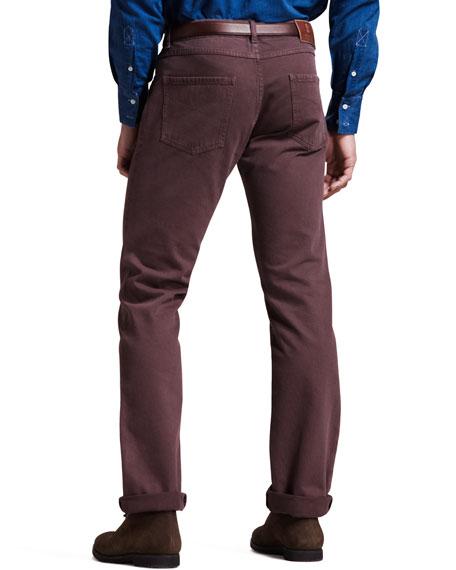 Five-Pocket Pants, Burgundy