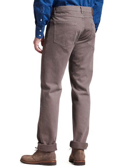 Five-Pocket Pants, Taupe