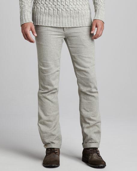 Linen-Wool Pants