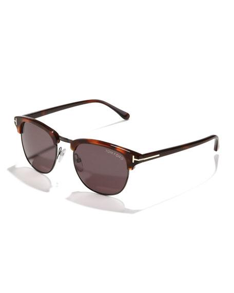 Henry Sunglasses, Gunmetal/Havana