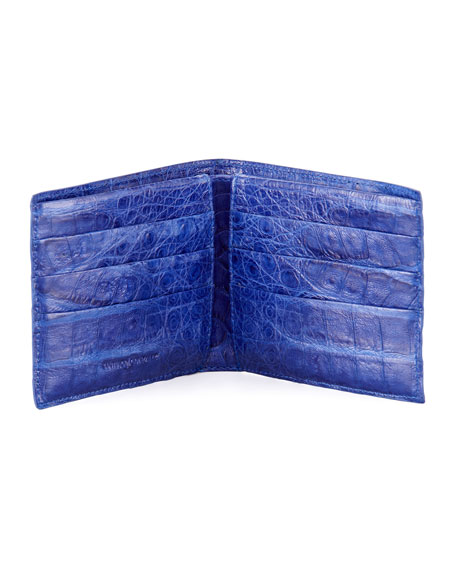 Bi-Fold Crocodile Wallet