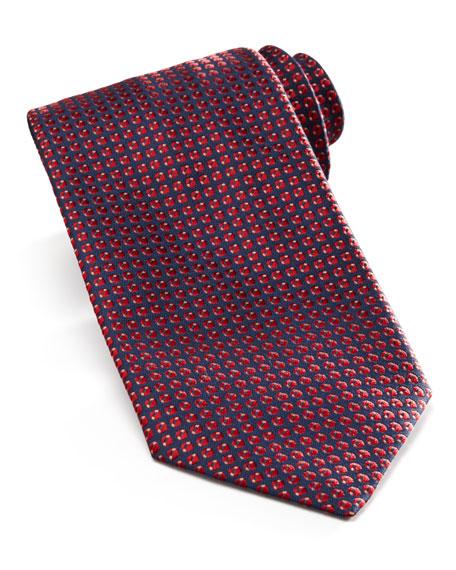 Mini-Neat Tie, Navy/Burgundy