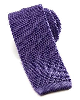 Knit Silk Tie, Lilac