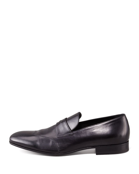 Wing-Tip Penny Loafer