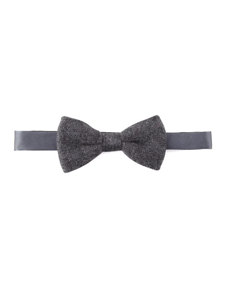 Cashmere Bow Tie, Gray
