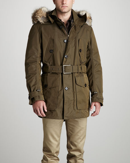 Litchfield Fur-Trim Parka