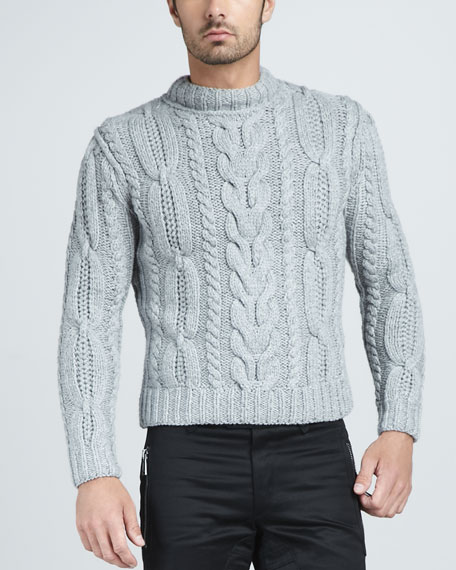Malton Handknit Cable Sweater
