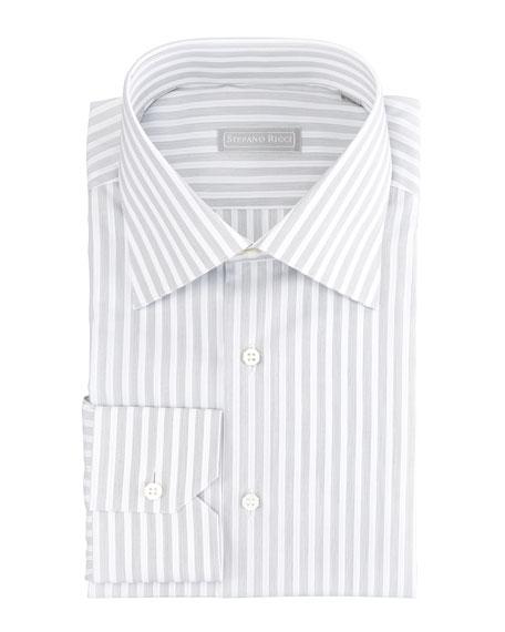 Thick-Stripe Dress Shirt