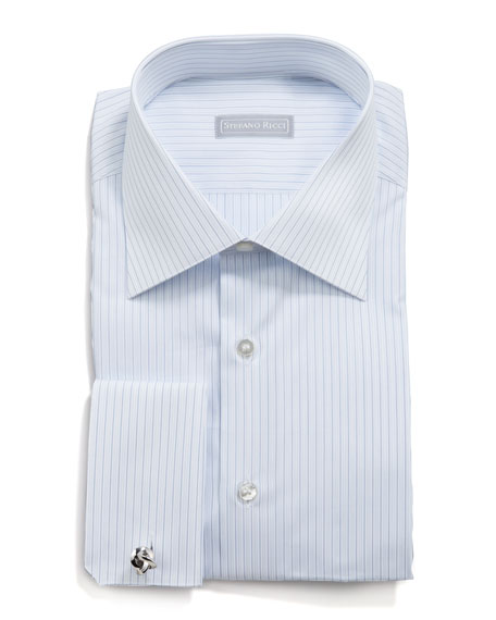 Pinstripe Dress Shirt, White