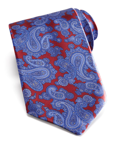 Paisley Tie, Red/Blue