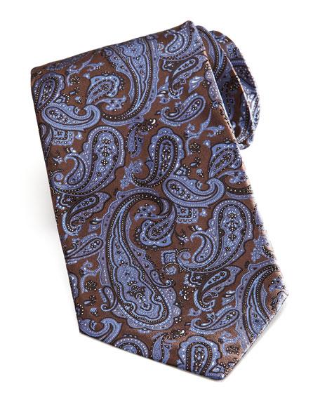 Paisley Tie, Brown/Blue