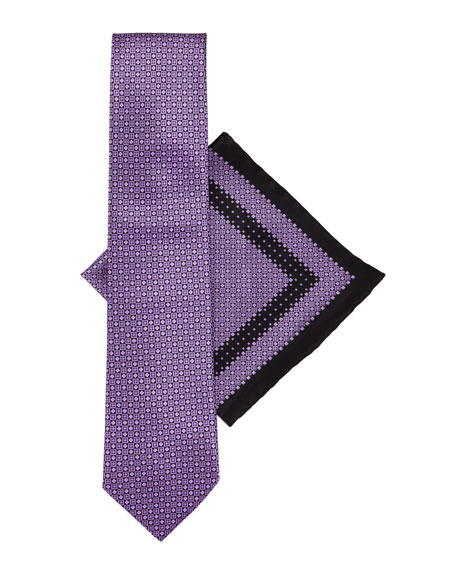 Silk Tie & Pocket Square Set, Purple