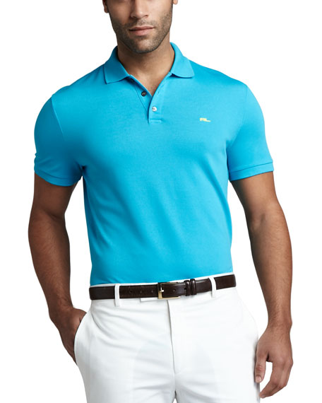 Mesh Polo, Clear Turquoise