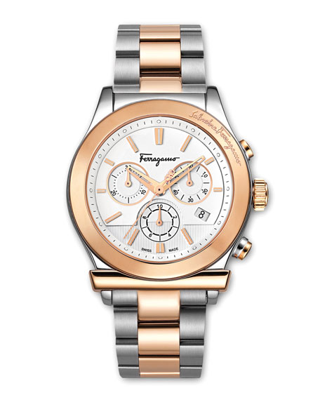 Two-Tone Classic Chronograph Watch