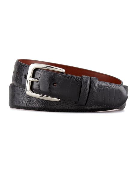 """1 1/4"""" Ostrich Leg Belt, Black"""
