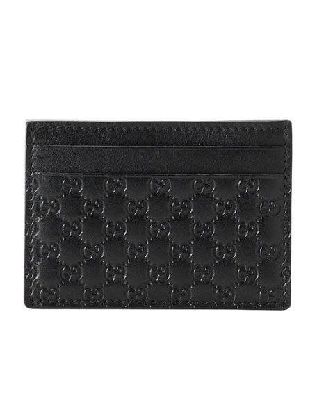 Micro-Guccissima Leather Money Clip