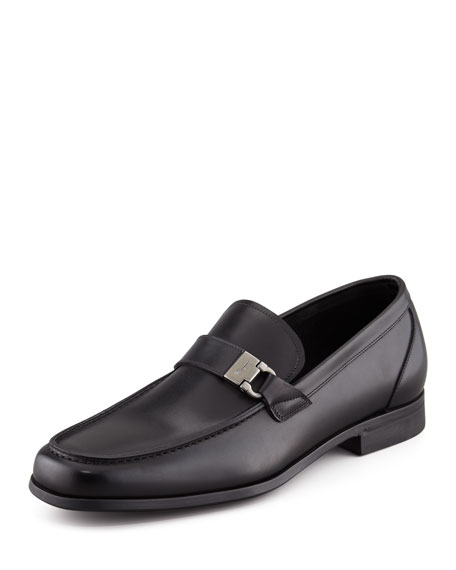 Tazio Side Ornament Loafer, Black