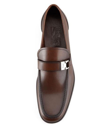 Tazio Side Ornament Loafer, Brown