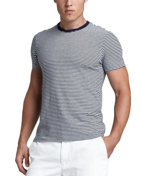 Striped Tee, Newport Navy/White