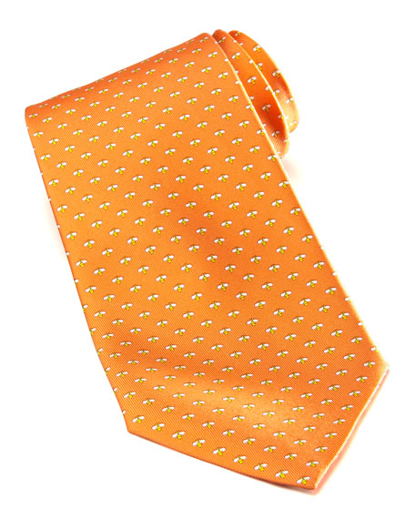 Micro-Bee Silk Tie, Orange