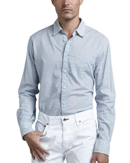 Yokohama Striped Sport Shirt, Blue