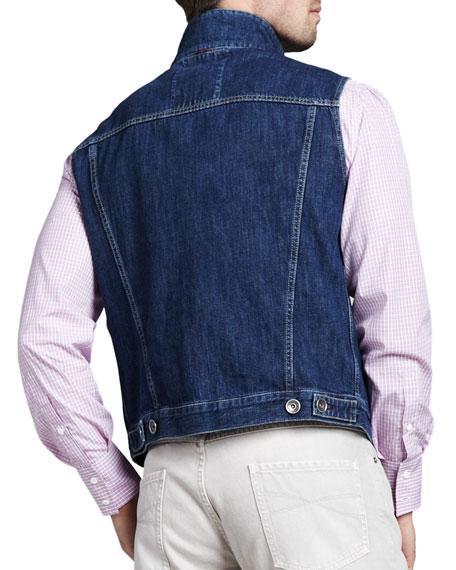Denim Button Vest