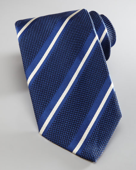 Stripe and Squares Tie