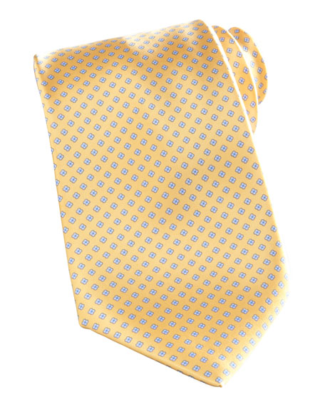 Mini-Flowers Tie, Yellow