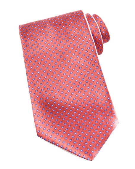 Mini-Flowers Silk Tie, Orange
