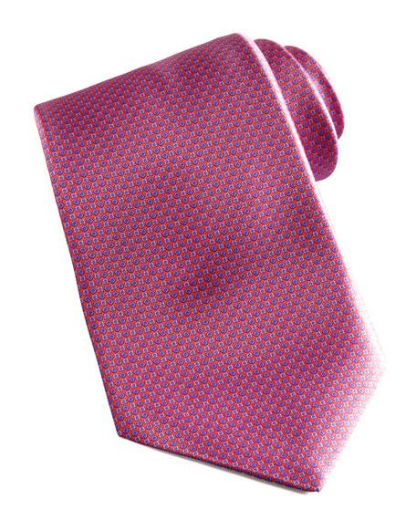 Mini-Neat Silk Tie, Pink/Blue