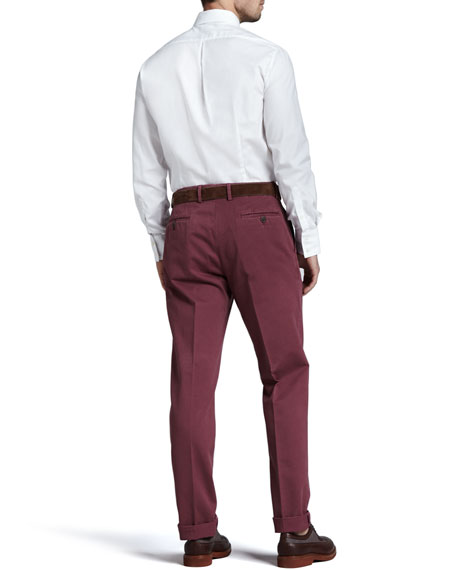 Basic Cotton Pants, Cherry