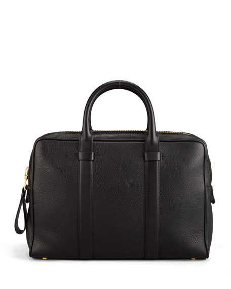 Small Zip Briefcase, Black