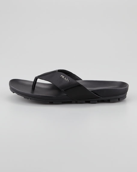 38a048aa4 Prada Nylon Thong Sandal