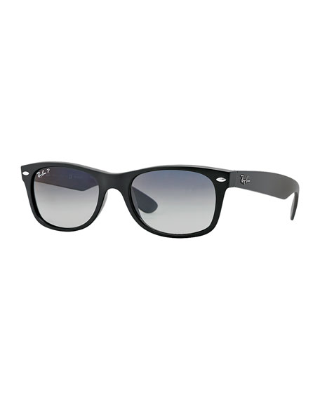 New Wayfarer Polarized Sunglasses, Matte Black