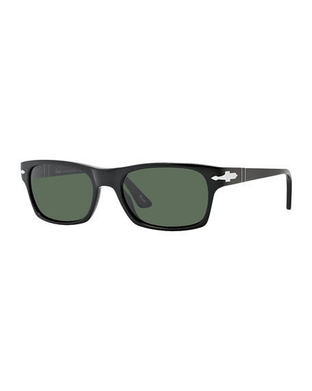 Square Plastic Sunglasses, Black
