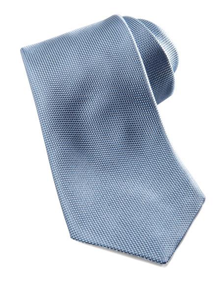Tonal-Pattern Silk Tie, Blue