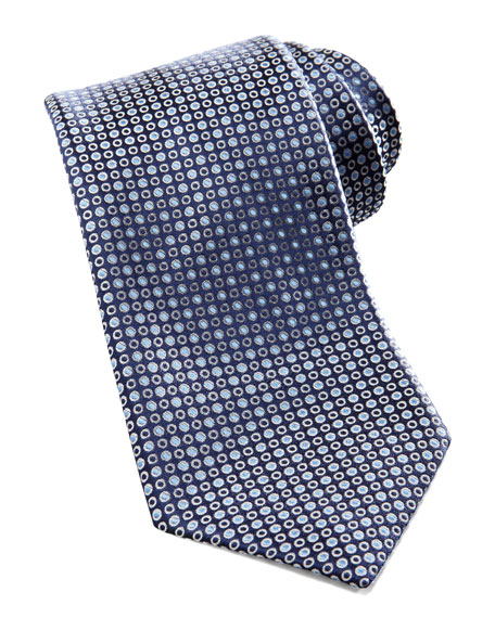 Dot-Pattern Silk Tie