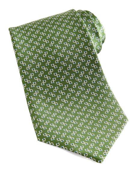 Two-Gancini Silk Tie, Green