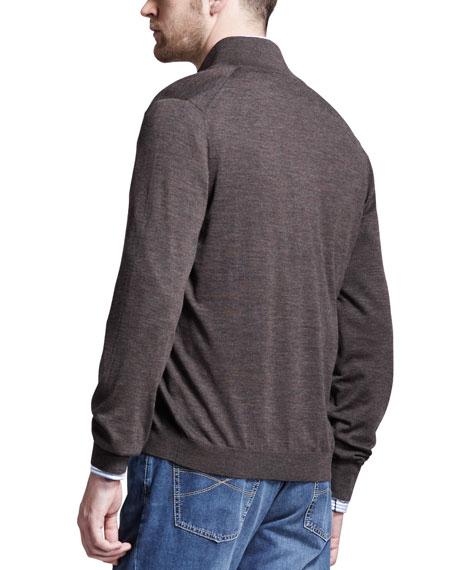 Shirt Collar Cardigan, Espresso