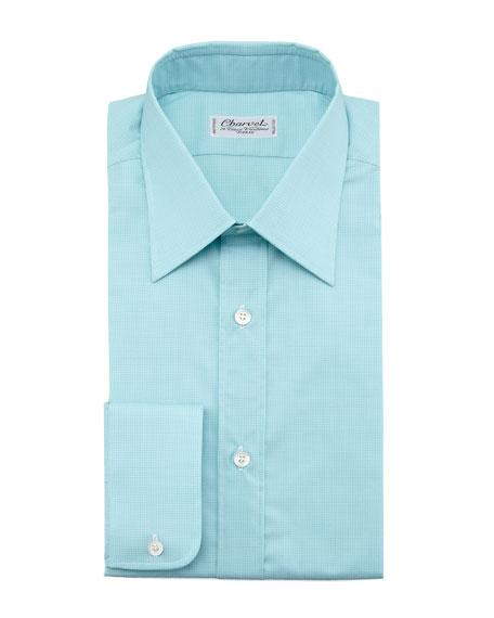 Check Dress Shirt, Light Green