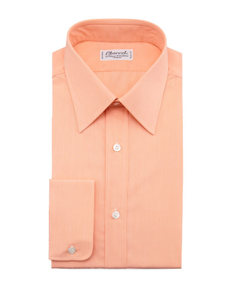 Solid Dress Shirt, Orange