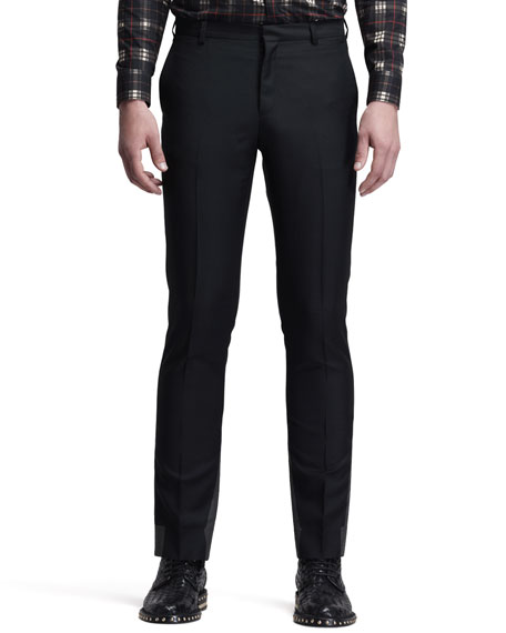 Flat-Front Trousers, Black