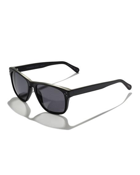 DBS Polarized Square Frame Sunglasses, Black