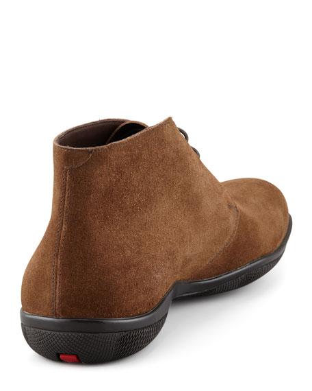 Prada Suede Chukka Boot, Brown