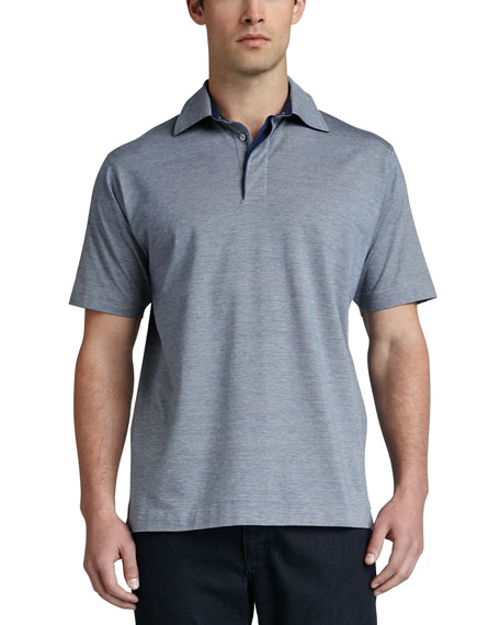 Birdseye Polo, Blue/White