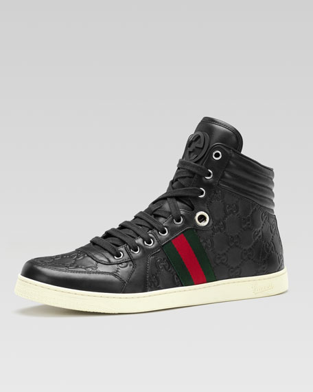 9d116945cfc Gucci Coda Guccissima Leather High-Top Sneaker