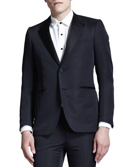 Cut-Collar Smoking Jacket